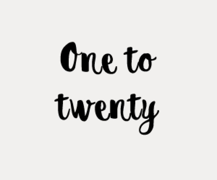 One to twenty