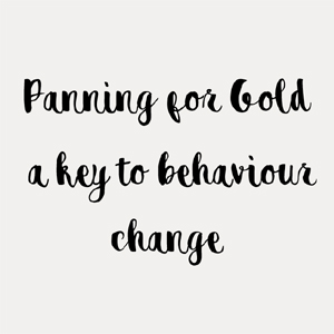 Panning for Gold – a key to behaviour change